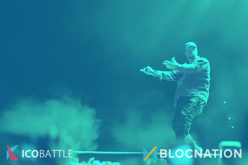 Concert picture. Pay with blocnation tokens.