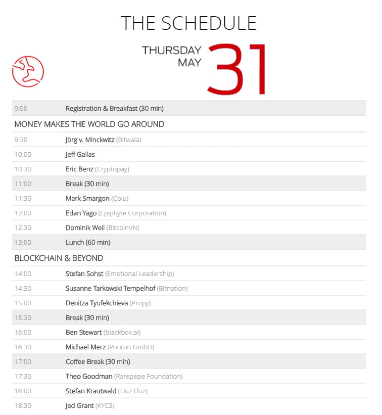 image with the unchain conference schedule