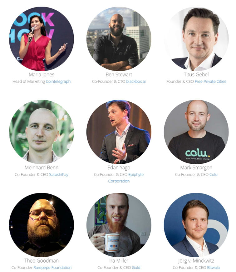 image of the speakers from Unchain Conference