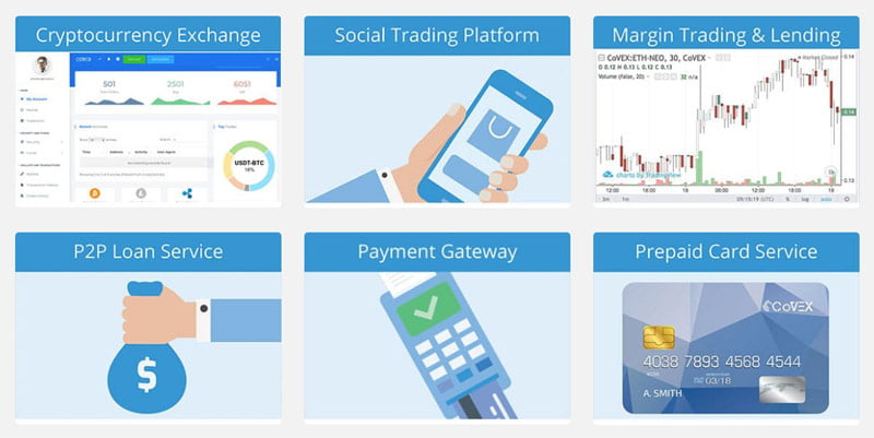Image of CoVEX ICO platform.